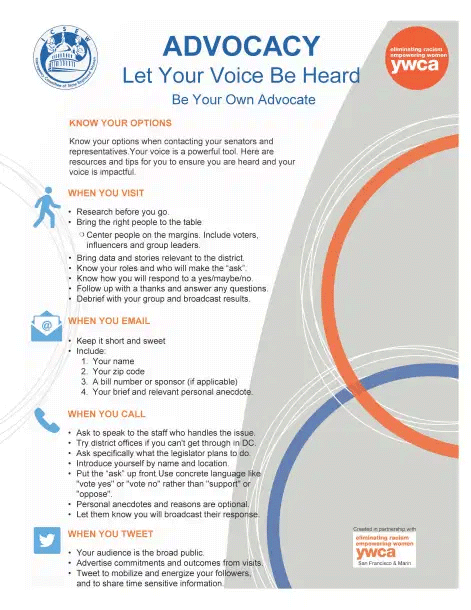 Advocacy flyer screenshot